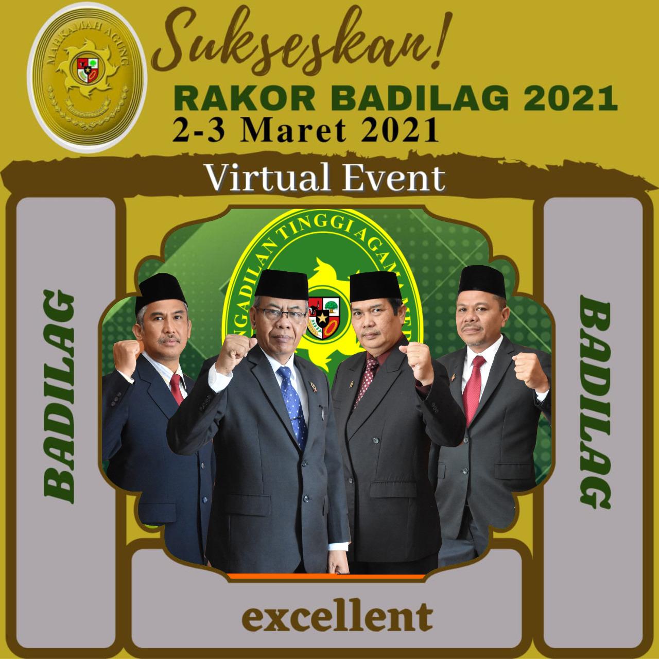 PTA Medan Sambut Antusias Pelaksanaan Rakor Badilag Tahun 2021 | (26/2)